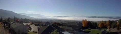Fog over Vernon