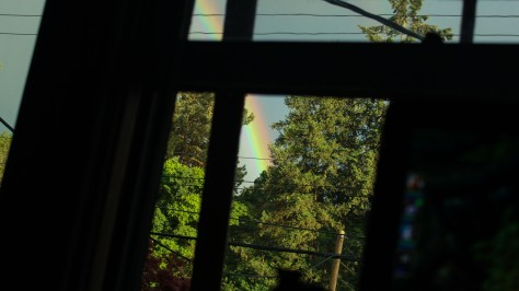 Rainbow after the hail storm